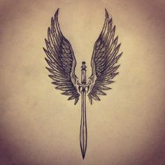 Angel With Sword Tattoo