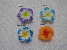 20mm Hawaiian Wavy Petals Plumeria Frangipani Polymer by jeepgrl99