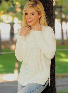 Bayan Triko Kazak Beyaz | Modelleri ve Uygun Fiyat Avantajıyla | Modabenle