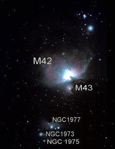 Orion nebula - Messier 42 etc