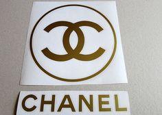 Chanel-Kreis-Logo/Vinyl-Aufkleber. von DecalworldStudio auf Etsy