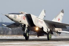 """Russian Mikoyan """"Foxbat"""" is a supersonic jet interceptor and reconnaissance third generation Fighter Aircraft, Fighter Jets, Russian Military Aircraft, Jet Fly, Russian Plane, Russian Air Force, Bus Camper, Military Jets, Jet Plane"""