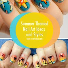 Summer Themed Nail Art Ideas and Styles summer nails beach nail art nail designs