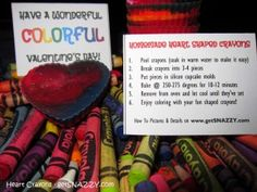 Homemade Heart Crayon's - Preschool Valentine's