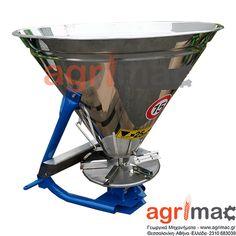 Λιπασματοδιανομέας ανοξείδωτος- ινοξ για τρακτέρ 300 400 500 λιτρα μόνο στην Agrimac