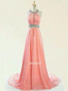 Vestido de gala rosa coral