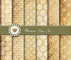 Old Paper Digital Scrapbooking Pack - White - Invitations - Tags - Collage Sheet - DIY - Printables - 1563