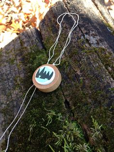 very mod mountain handmade necklace by quarkcorks on Etsy