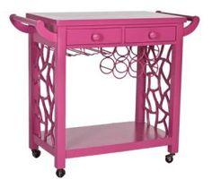 luscious bar carts - cocktail trays - grande_hostess_pink_grande via society social | www.myLusciousLife.com