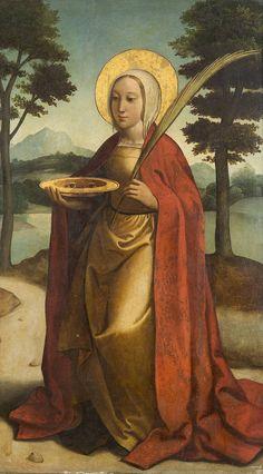 Anónimo (Círculo de Borgoña, Juan de). Santa Lucía. 1st third of the 16th c. Museo del Prado, Madrid