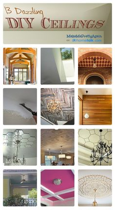13 Dazzling {DIY} Ceiling Makeovers!