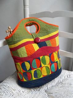 patchwork bag by Sakamaliss on Etsy, €50.00