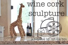 wine cork sculpture - I found a bunch of corks at a yard sale once.  This would be a cute craft idea!