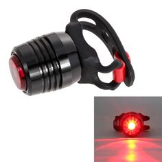 USB Charging Bicycle LED Rear Tail Warning Safety Light Lamp Red Light 3 Modes Bicycle Tail Lights with Charger