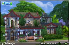 Home of the Gytha Ogg Discworld witch by Satureja at Blacky's Sims Zoo via Sims 4 Updates