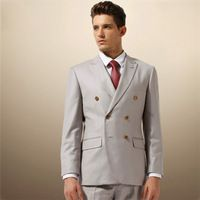 Male Double Breasted Mens Wedding Suits For Men With Pants Grooms Slim Fit  Business  Tuxedos  Jacket Pants  AIH 091