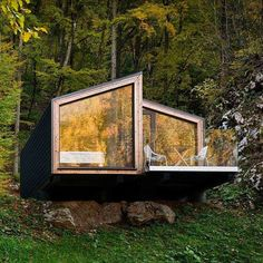 Fiverr freelancer will provide Architecture & Interior Design services and design shipping container projects within 3 days Tiny House Cabin, Cabin Homes, Tiny Houses, Cabin Design, Tiny House Design, Cabins In The Woods, House In The Woods, Floating House, Forest House