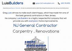 Luisi Builders . NJ General Contractor .. Carpentry . Renovations .. website is now live!
