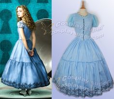 Alice in wonderland Cosplay Costume Alice's blue long dress