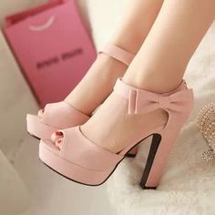Womens Bowknot Open Toe High Heel Platform Sandals Party Pumps Shoes Plus Sz Dream Shoes, Crazy Shoes, Me Too Shoes, Pretty Shoes, Beautiful Shoes, Hot Shoes, Shoes Heels, Heeled Sandals, Pink Shoes