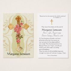 #Personalized Catholic Funeral Memorial Holy Card - - #office #gifts #giftideas #business