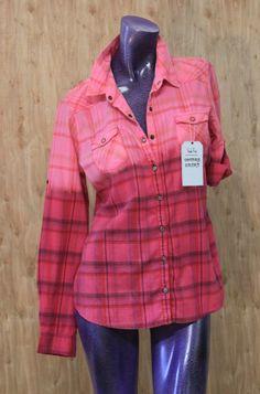 Studio Vivus Ombré Flannel Shirts: Bleach Dipped Wearable Art