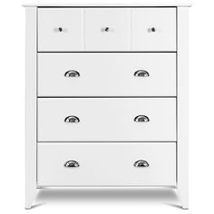 USA_Best_Seller Multi-Functional Chic White Modern 4 Drawers Chest Dresser Storage Cabinet Versatile Stability Non Toxic Eco Friendly Furniture Dresser Storage, Chest Dresser, 4 Drawer Dresser, Wood Dresser, Chest Of Drawers, Fabric Display, Fabric Storage, Dorm Organization, Wooden Chest