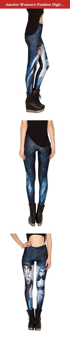 "Amoluv Women's Fashion Digital Print Corpse Bride Pattern Sexy Leggings. High waist leggings feature a soft jersey lined comfort waistband, slim stretch fit and beautiful colors. ""Amoluv "" leggings are an affordable way to get runway and celebrity style! We offer the highest quality leggings, these leggings are stylish for you About ""Amoluv "" Store: We offers trendy designer inspired fashion at deep discounts! Usually 7-12 days delivery to USA, tracking number will be provided!Expedited..."