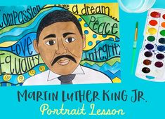What better way to honor Martin Luther King Jr. and guide your students towards thinking on a more global scale than to have your students create a portrait Martin Luther King Art Projects, Portraits For Kids, Deep Space Sparkle, Jr Art, 5th Grade Art, Art Lessons For Kids, King Jr, Elementary Art, Elementary Education