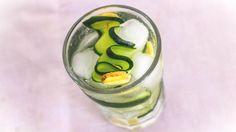 Acqua magica al cetriolo, limone e zenzero, bevanda detox per dimagrire