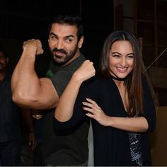 John Abraham and Sonakshi Sinha have a blast aping each other during Force 2 promotions #photo #paparazzi #johnabraham #sonakshisinha #black #biceps #fitness #instafit #love #bollywood #movie #actor #instadaily #instagood #friends #bff #lookoftheday #picoftheday #photooftheday #thursday #work #force2 #casual #smile #happy #boy #girl #mumbai