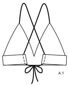 "Tahiti - Crochet DROPS bikini with lace pattern and ties in ""Safran"". Size S-XXXL. - Free pattern by DROPS Design"