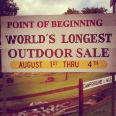 be still my beating heart. On the 127 yard sale - the longest yard sale in the world #bucketlist @Jo Anne Huck let's go!