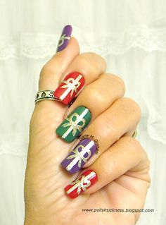 #Holiday 2013 Nail Art Ideas: Glitter, Nail Stamp Designs, Water Marble, Christmas Trees, Snowflakes: 2014 Trends #nailart