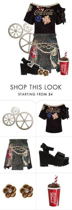 """""""Coca Cola"""" by krgood7 ❤ liked on Polyvore featuring WALL, Pinko, Dolce&Gabbana, Jeffrey Campbell, Pilgrim, vintage, Bohemian and cocacola"""