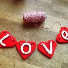 Make a Love Heart Salt Dough Banner