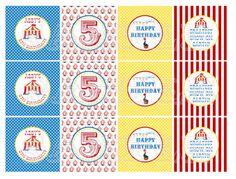 Printable Circus Cupcake Toppers