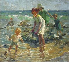 Sharp, Dorothea (1874-1955) - At the Seaside (Christie's London, 2008)
