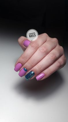 Nails  Combi manicure  Glitter nails Pink nails  Nailsmagazine  Nails done  Manicure greece purple nails