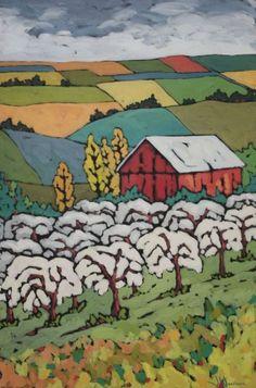 "Jennifer Woodburn ""Spring Orchard"" acrylic on canvas"