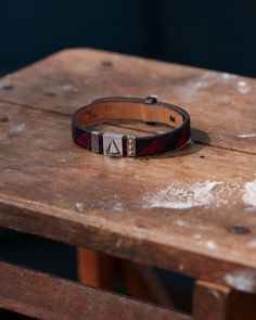 The Ojiji bracelet is defined by the delicate embroidery that is offset with premium leather decorated with exclusive metallic elements. | Available now at Northskull.com [Worldwide Shipping] #Luxury #wristgame #MensAccessories