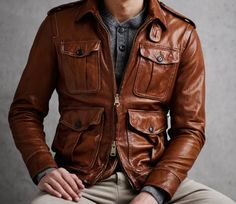 Todd Snyder washed leather bomber jacket