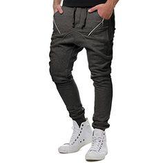 EightyFive Herren Jogginghose Sweatpants Zipper Gesteppt Schwarz Weiß 305:  Amazon.de: Bekleidung