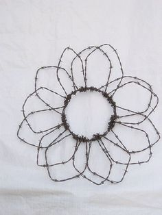 barbed wire flower...TF