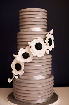 Pretty shade of mocha for this cake would choose different floral accent.
