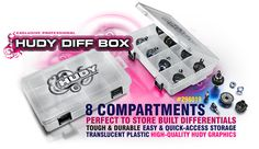 #HUDY Diff Box – 8-Compartments #298019 is very handy, useful box for diff parts storage.