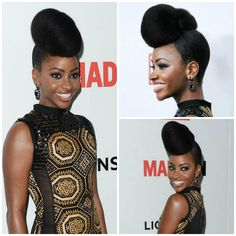 Teyonah Parris does it again! Absolutely love this updo. This can be done with natural hair