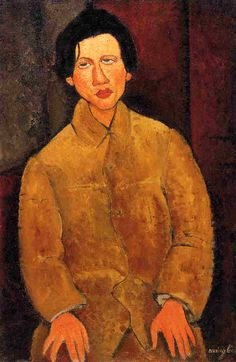 Amedeo Modigliani painted his friend, Chaim Soutine, 1916