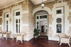 Chiritta a house in Perth which dates back to the Australian Architecture, Australian Homes, Home Design Decor, House Design, Set Design, Beautiful Buildings, Beautiful Homes, Queenslander, Church Architecture