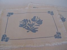 Four Pfaltzgraff Yorktowne Placemats by GandTVintage on Etsy